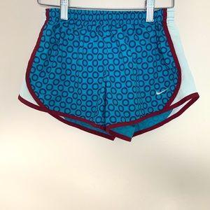 Nike Girls Blue Dot DriFit Running Athletic Shorts